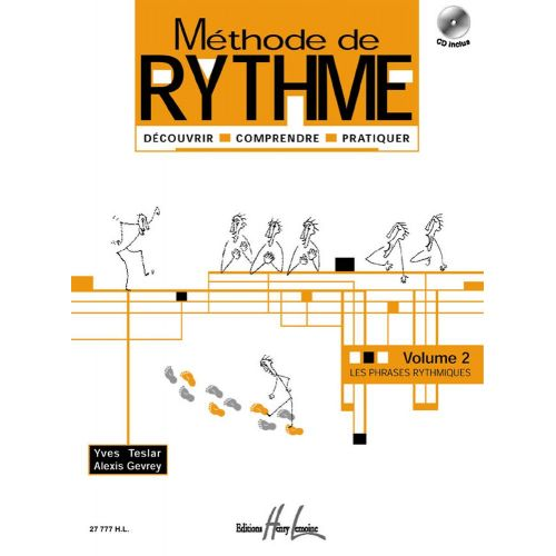 LEMOINE TESLAR Y./ GEVRAY A. - METHODE DE RYTHME VOL.2 + CD