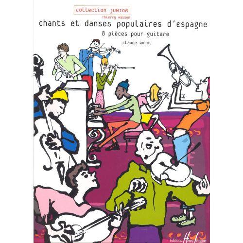 LEMOINE WORMS CLAUDE - CHANTS ET DANSES POPULAIRES D'ESPAGNE - GUITARE