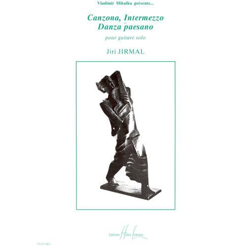 LEMOINE JIRMAL JIRI - CANZONA, INTERMEZZO ET DANZA PAESANO - GUITARE