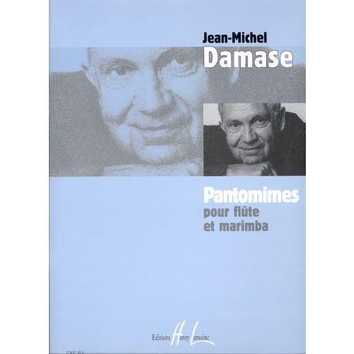 LEMOINE DAMASE JEAN-MICHEL - PANTOMIMES - FLUTE, MARIMBA