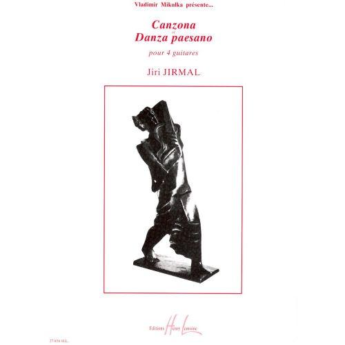 LEMOINE JIRMAL JIRI - CANZONA ET DANZA PAESANO - 4 GUITARES