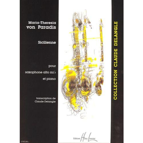 LEMOINE VON PARADIS MARIA-THERESIA - SICILIENNE - SAXOPHONE, PIANO