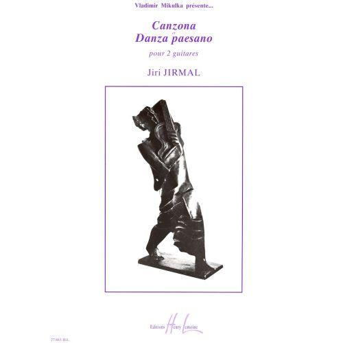 LEMOINE JIRMAL JIRI - CANZONA ET DANZA PAESANO - 2 GUITARES