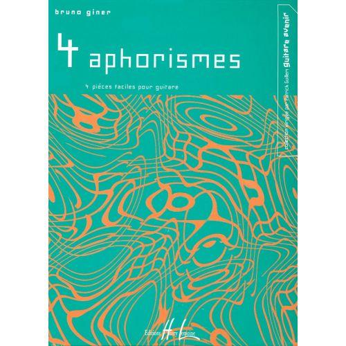 LEMOINE GINER BRUNO - APHORISMES (4) - GUITARE