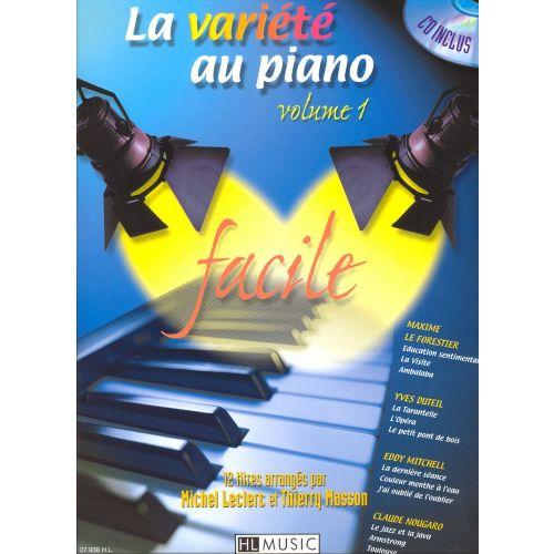 LEMOINE LECLERC M./ MASSON T. - LA VARIETE AU PIANO VOL.1 + CD - PIANO