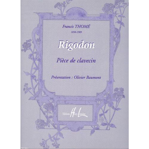 LEMOINE THOME FRANCIS - RIGODON - CLAVECIN