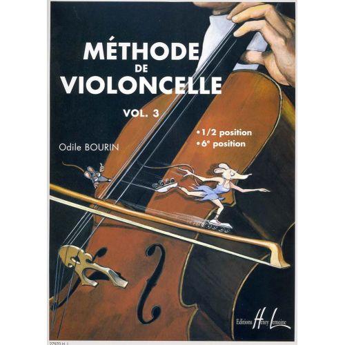 LEMOINE BOURIN ODILE - METHODE DE VIOLONCELLE VOL.3 - VIOLONCELLE