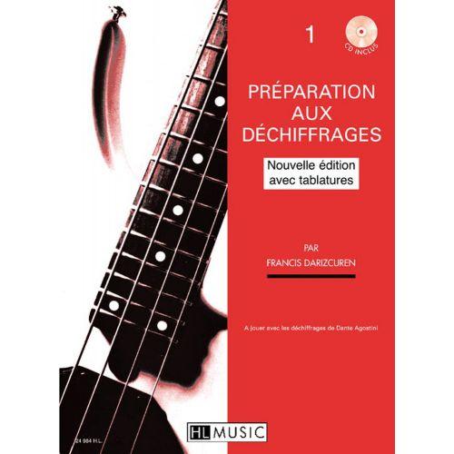 LEMOINE DARIZCUREN FRANCIS - PREPARATION AU DECHIFFRAGE VOL.1 ET 2 + CD - GUITARE BASSE