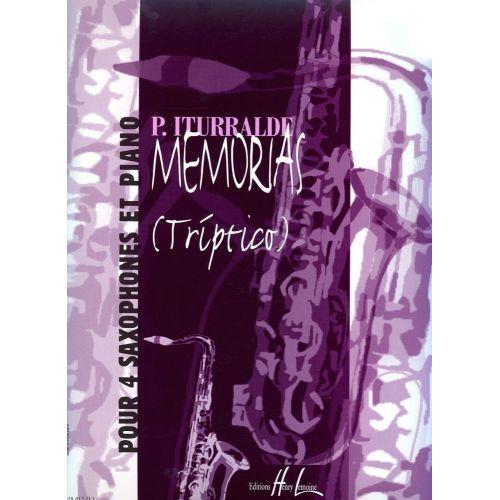 LEMOINE ITURRALDE PEDRO - MEMORIAS - TRIPTICO - 4 SAXOPHONES, PIANO