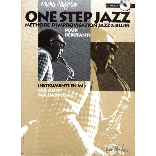 LEMOINE PELLEGRINO MICHEL - ONE STEP JAZZ + CD - SAXOPHONE MIB