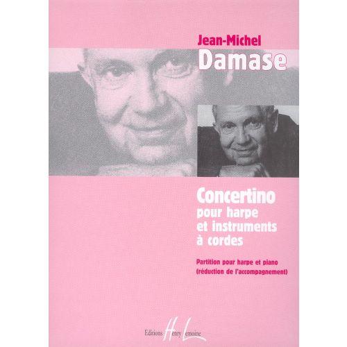LEMOINE DAMASE JEAN-MICHEL - CONCERTINO POUR HARPE - HARPE, PIANO