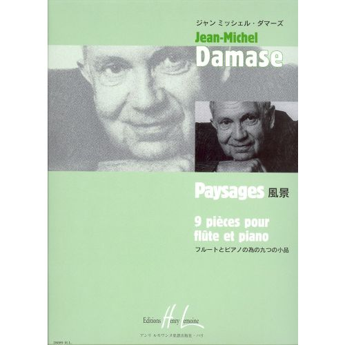 LEMOINE DAMASE JEAN-MICHEL - PAYSAGES - FLUTE, PIANO