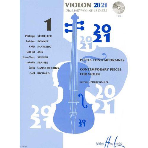 LEMOINE LE DIZES MARYVONNE - VIOLON 20-21 VOL.1 + CD - VIOLON