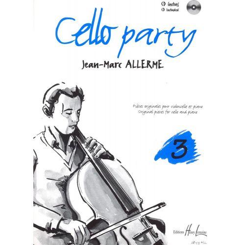 LEMOINE ALLERME JEAN-MARC - CELLO PARTY VOL.3 + CD - VIOLONCELLE, PIANO