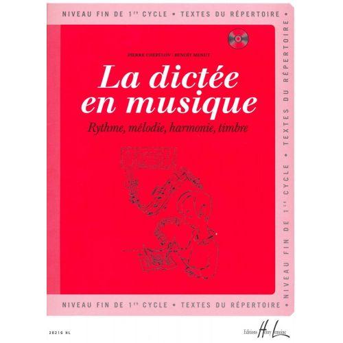 LEMOINE CHEPELOV P. / MENUT B. - LA DICTÉE EN MUSIQUE VOL.3 + CD - FIN DU 1ER CYCLE