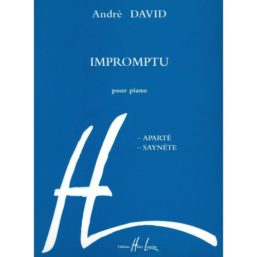 LEMOINE DAVID ANDRÉ - IMPROMPTU - PIANO