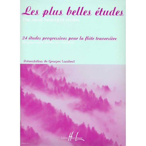 LEMOINE LAMBERT GEORGES - LES PLUS BELLES ETUDES - 24 ETUDES PROGRESSIVES - FLUTE