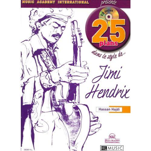 LEMOINE HADJI HASSAN - 25 PLANS DANS LE STYLE DE... JIMI HENDRIX + CD - GUITARE ELECTRIQUE