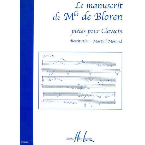 LEMOINE MANUSCRIT DE MELLE DE BLOREN - CLAVECIN