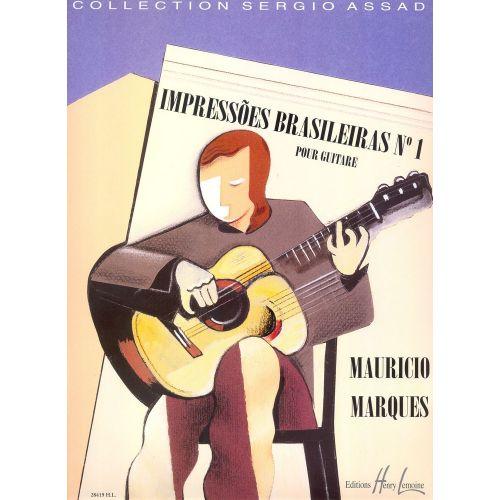 LEMOINE MARQUES MAURICIO - IMPRESSOES BRASILEIRAS N°1 - GUITARE