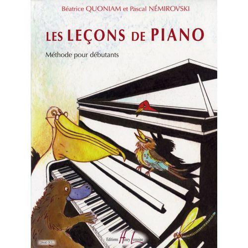 LEMOINE QUONIAM B. / NEMIROVSKI P. - LES LEÇONS DE PIANO - PIANO