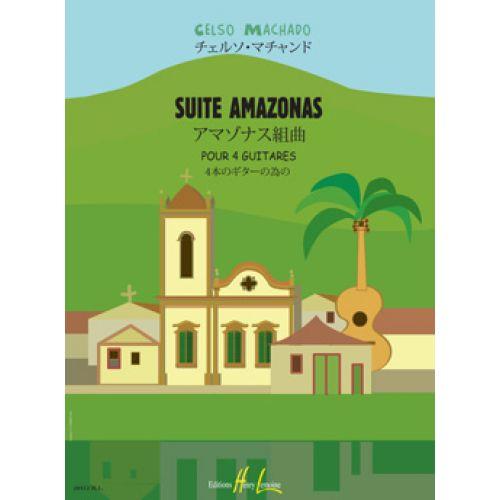 LEMOINE KLASSISCHE NOTEN - MACHADO CELSO - SUITE AMAZONAS - 4 GUITARES