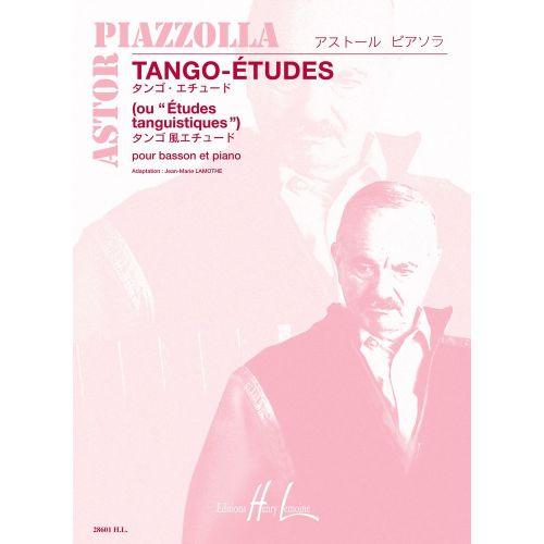 LEMOINE PIAZZOLLA ASTOR - TANGO - ETUDES (6) - BASSON, PIANO
