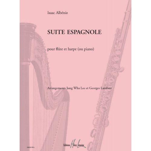 LEMOINE ALBENIZ IZAAC - SUITE ESPAGNOLE - FLUTE, HARPE (OU PIANO)