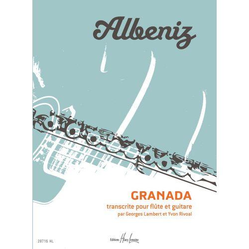 LEMOINE ALBENIZ ISAAC - GRANADA - FLUTE, GUITARE