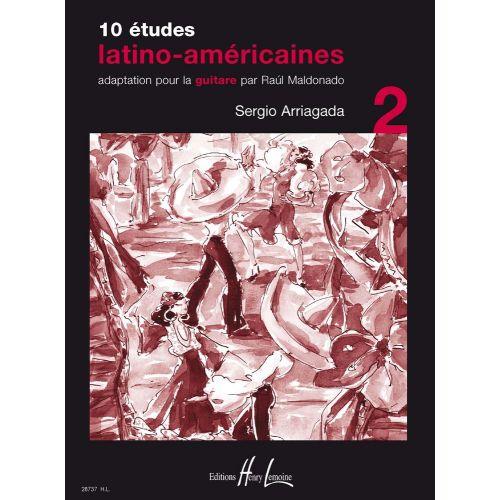 LEMOINE ARRIAGADA SERGIO - ETUDES LATINO-AMERICAINES (10) VOL.2 - GUITARE