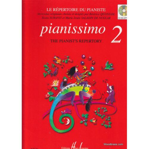LEMOINE QUONIAM B. - PIANISSIMO, LE REPERTOIRE DU PIANISTE VOL. 2
