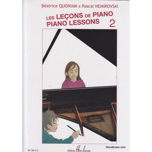 LEMOINE QUONIAM B./NEMIROVSKY P. - LES LEÇONS DE PIANO VOL. 2