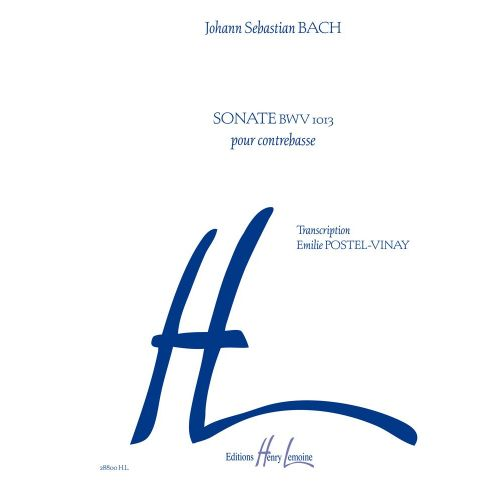 LEMOINE BACH J.S. - SONATE BWV 1013 - CONTREBASSE
