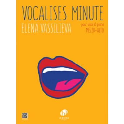 LEMOINE VASSILIEVA Elena - VOCALISES MINUTE - MEZZO OU ALTO & PIANO