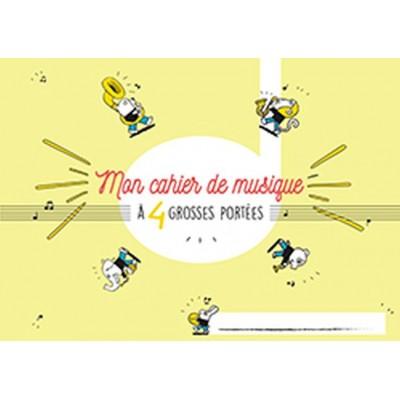 HEXAMUSIC CAHIER DE MUSIQUE POUR ENFANT 4 GROSSES PORTÉES