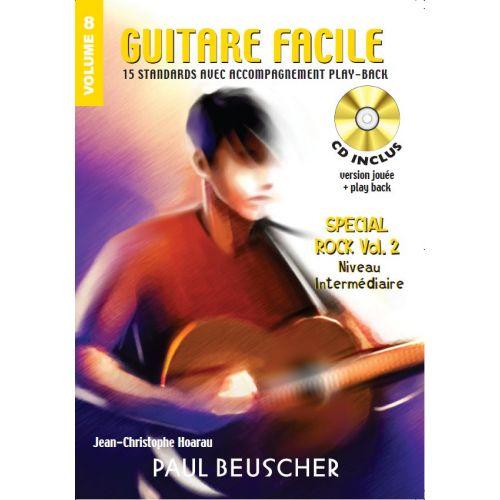 PAUL BEUSCHER PUBLICATIONS GUITARE FACILE VOL.8 SPÉCIAL ROCK VOL.2 INTERMEDIAIRE + CD