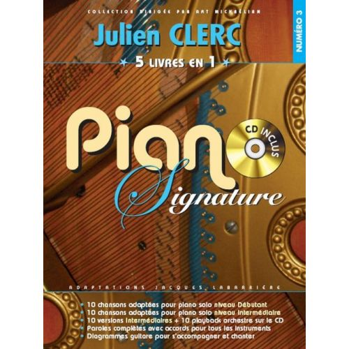 BOOKMAKERS INTERNATIONAL CLERC JULIEN - PIANO SIGNATURE + CD - PVG