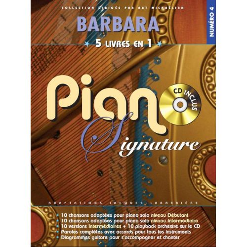 BOOKMAKERS INTERNATIONAL BARBARA - PIANO SIGNATURE + CD - PVG