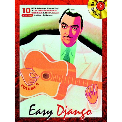 BOOKMAKERS INTERNATIONAL REINHARDT DJANGO - EASY DJANGO VOL.2 + CD - GUITARE TABLATURES
