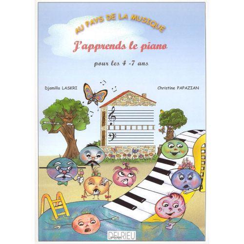 EDITION DELRIEU LASKRI D. / PAPAZIAN C. - J'APPRENDS LE PIANO