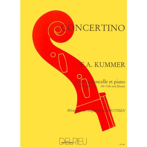 EDITION DELRIEU KUMMER - CONCERTINO EN DO MAJ. - VIOLONCELLE, PIANO