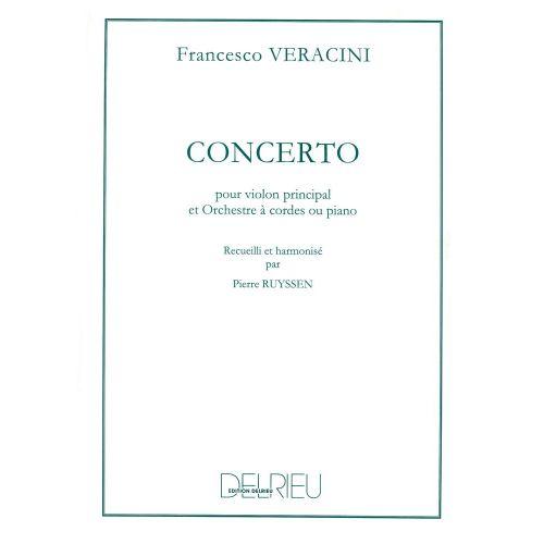 EDITION DELRIEU VERACINI FRANCESCO-MARIA - CONCERTO - VIOLON, PIANO