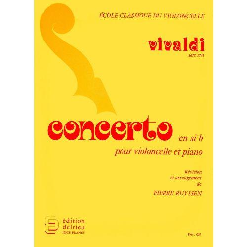 EDITION DELRIEU VIVALDI ANTONIO - CONCERTO EN SIB MAJ. LA NOTTE - VIOLONCELLE, PIANO