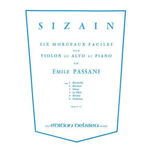 EDITION DELRIEU PASSANI EMILE - SIZAIN 1 : BARCAROLLE - VIOLON