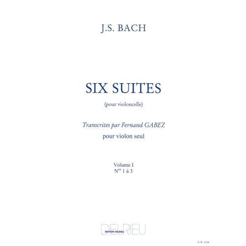 EDITION DELRIEU BACH J.S. - SUITES (6) VOL.1 - VIOLONCELLE