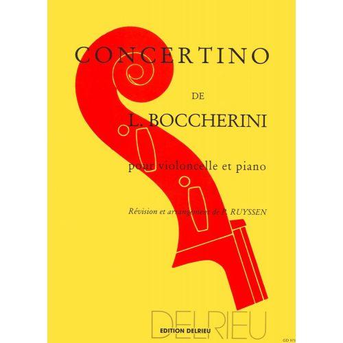 EDITION DELRIEU BOCCHERINI LUIGI - CONCERTINO EN SOL MAJ. - VIOLONCELLE, PIANO