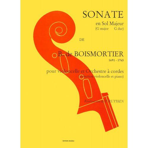 EDITION DELRIEU BOISMORTIER JOSEPH-BODIN (DE) - SONATE EN SOL MAJ. - VIOLONCELLE, PIANO