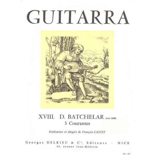 EDITION DELRIEU BATCHELAR - COURANTES (3) - GUITARE