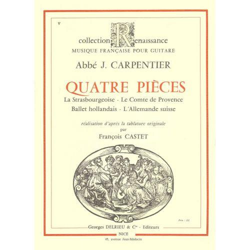 EDITION DELRIEU CARPENTIER - PIECES (4) - GUITARE