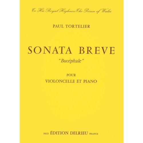 EDITION DELRIEU TORTELIER PAUL - SONATE BRÈVE BUCÉPHALE - VIOLONCELLE, PIANO
